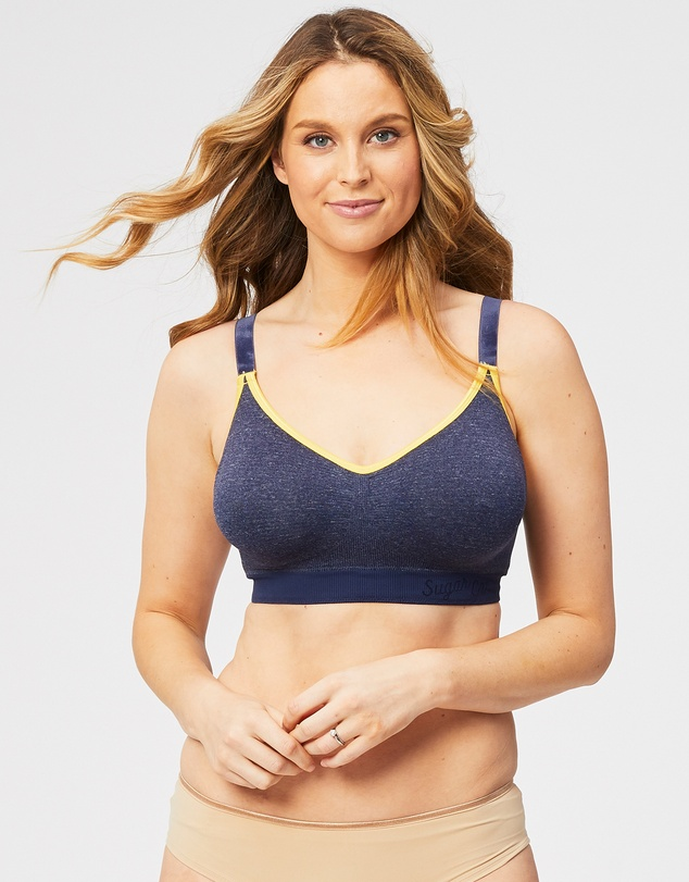 Cake Maternity - Sugar Candy Crush Seamless Plus Size Lounge Bra (for F-H Cups)