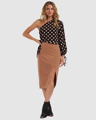 Amelius Million Skirt - Pencil skirts (Ochre)