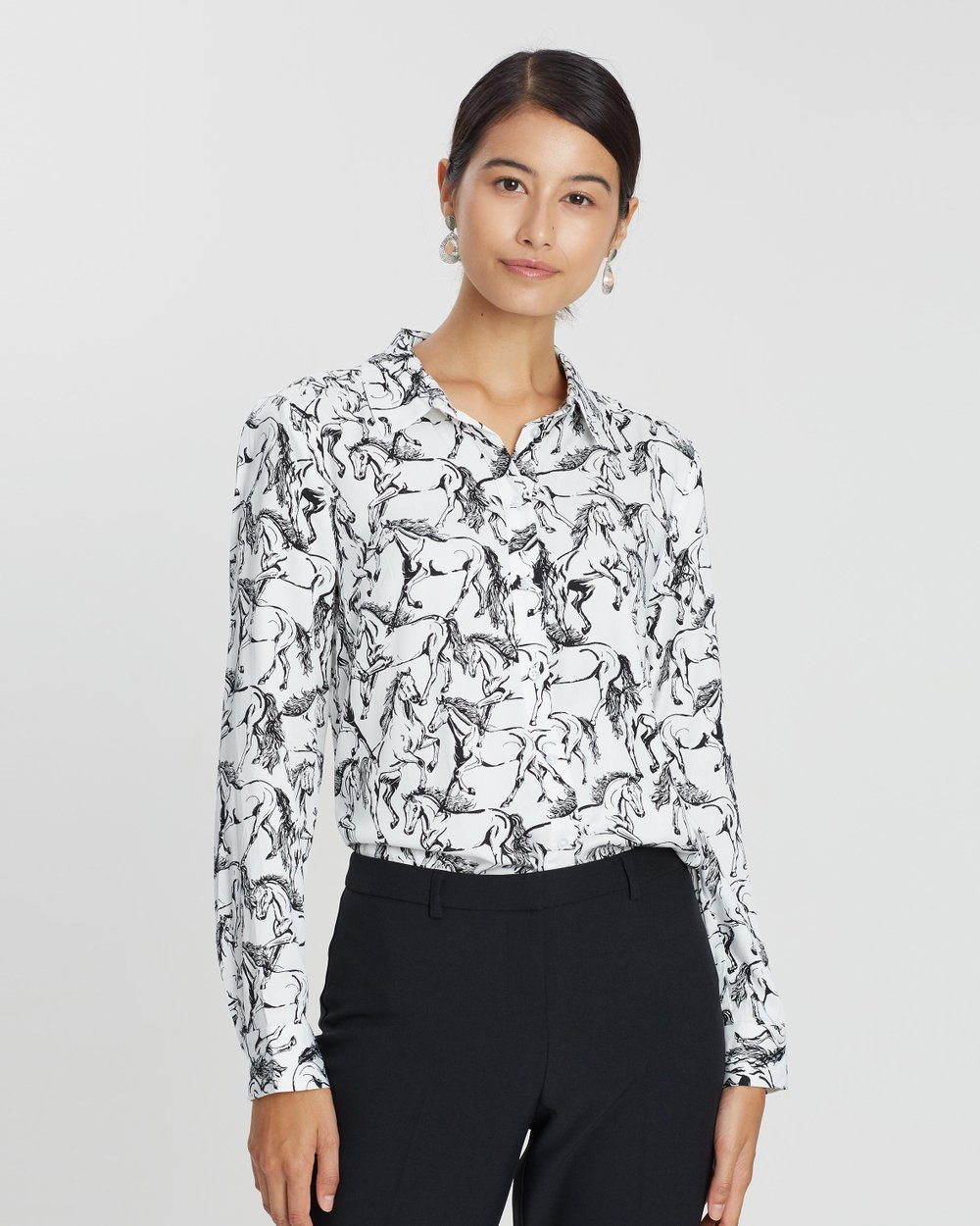 4f98c9acc2f26c Horse Print Shirt by Warehouse Online