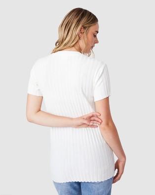 Cotton On - Sustain Me Variegated Rib T Shirt - T-Shirts & Singlets (Chalk White) Sustain Me Variegated Rib T-Shirt