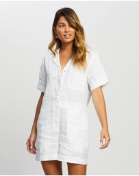 Assembly Label - Blair Linen Playsuit