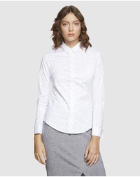 Oxford - Angel French Cuff Spot Stretch Shirt