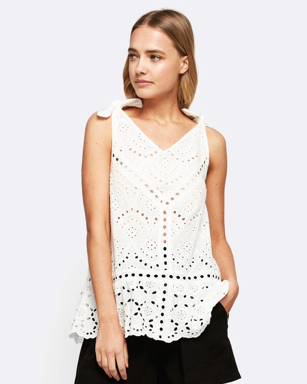 MVN We Found Love Lace Top Tops White We Found Love Lace Top