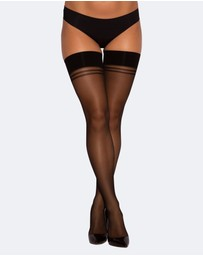 Bras N Things - Smooth Top Hold Up Stockings