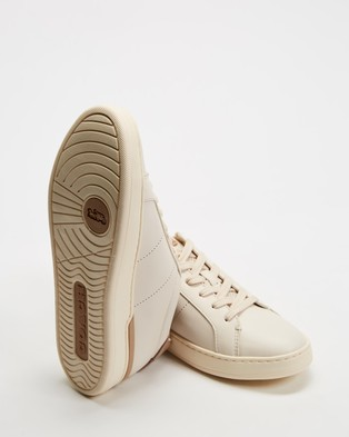 Coach Lowline Leather Sneakers - Sneakers (Chalk & Taupe)