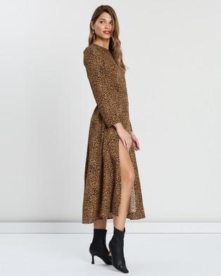 Atmos&Here - Peri Animal Midi Dress - Printed Dresses (Animal Print) Peri Animal Midi Dress