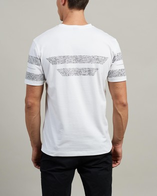BOSS Stripe T Shirt - T-Shirts & Singlets (White)