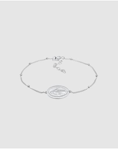 Elli Jewelry Bracelet Religion Adjustable In 925 Sterling Silver