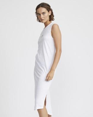 Jac & Mooki Gigi Dress - Dresses (white - blk logo)