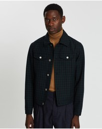 Band of Outsiders - Check Wool Denim Jacket