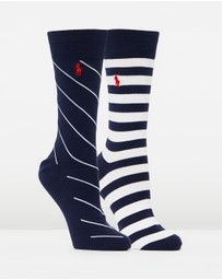 Polo Ralph Lauren - 2-Pack Rugby & Rep Stripe Socks
