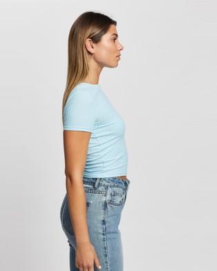 Atmos&Here Fiorella Rib T Shirt - T-Shirts & Singlets (Soft Blue)