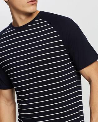 Marks & Spencer Pure Cotton Striped Pyjama Set - Two-piece sets (Navy)