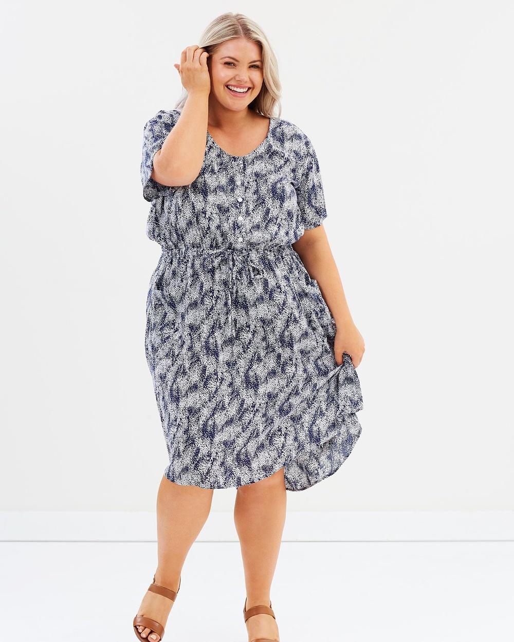 Hope & Harvest Stella Dress Printed Dresses Seafoam Stella Dress