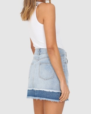 Madison The Label Dallas Denim Skirt - Denim skirts (Blue)