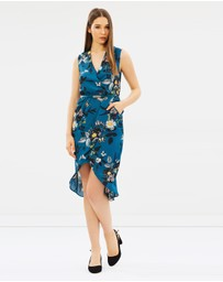 Oasis - Shipwrecked Wrap Front Midi Dress
