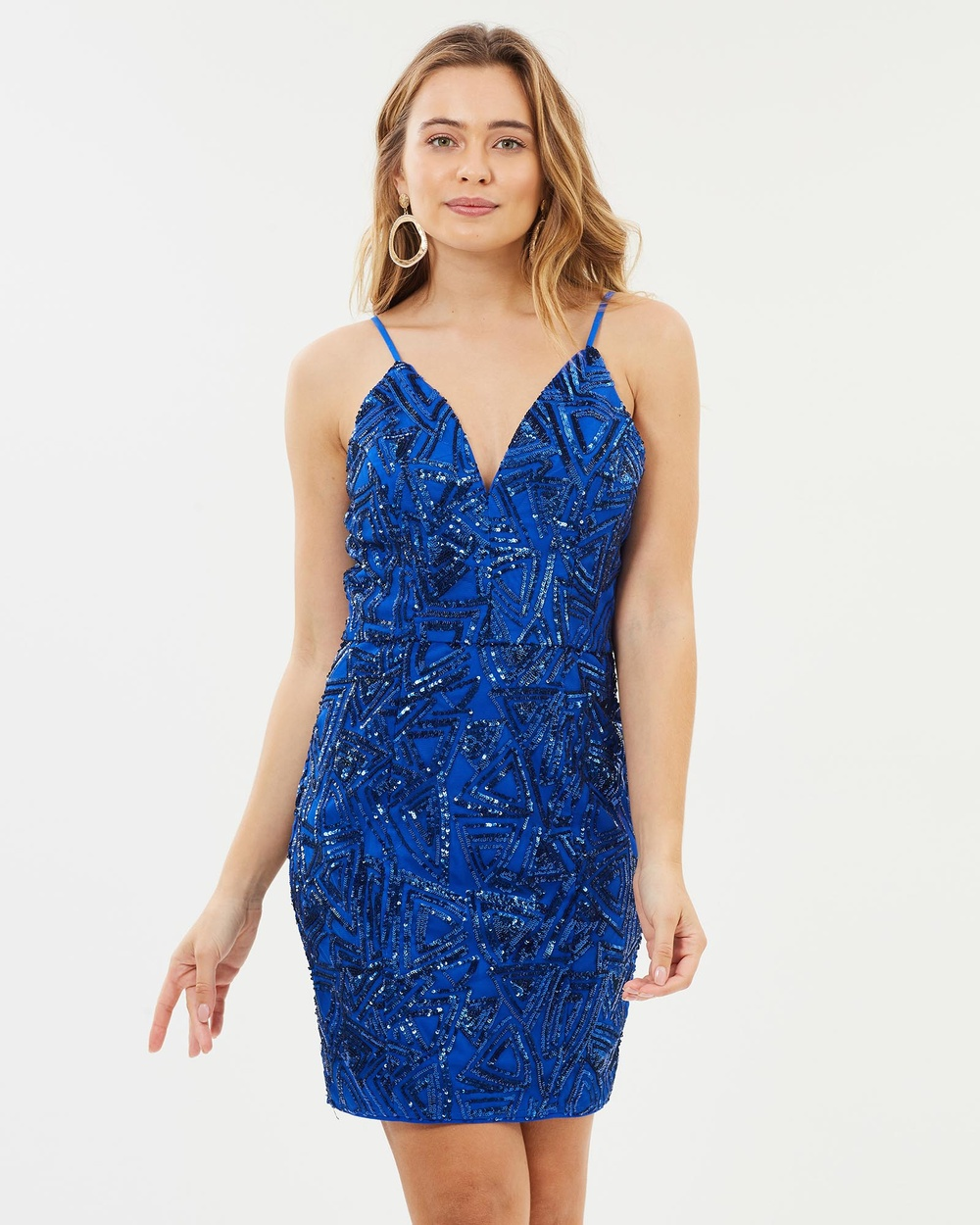 Romance by Honey and Beau Alyssa Sequin Dress Bridesmaid Dresses Blue Alyssa Sequin Dress