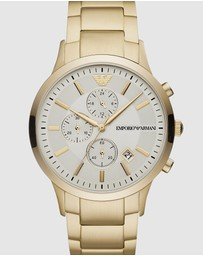 Emporio Armani - Gold-Tone Chronograph Watch AR11332