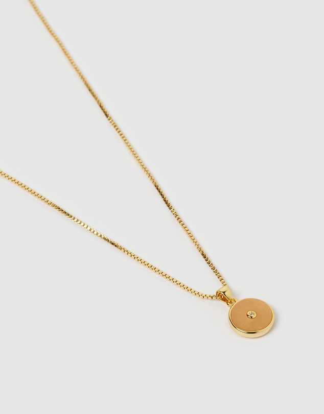 Women Bohdi Gold and Sunstone Necklace