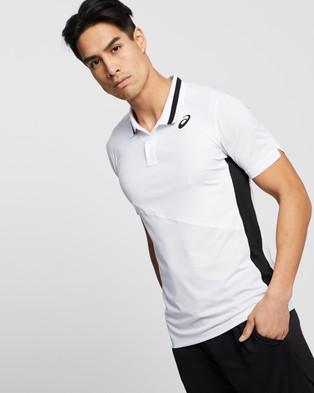 ASICS Club Polo Shirt   Men's - Shirts & Polos (Brilliant White)