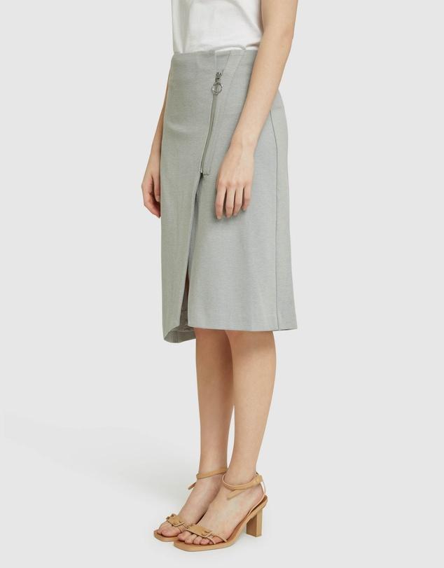Women Frankie Ponti Zip Detail Skirt