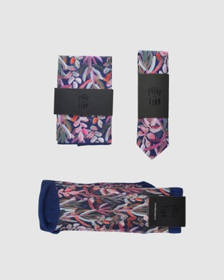 Peggy and Finn - Protea Tie Gift Box - Ties (Navy) Protea Tie Gift Box