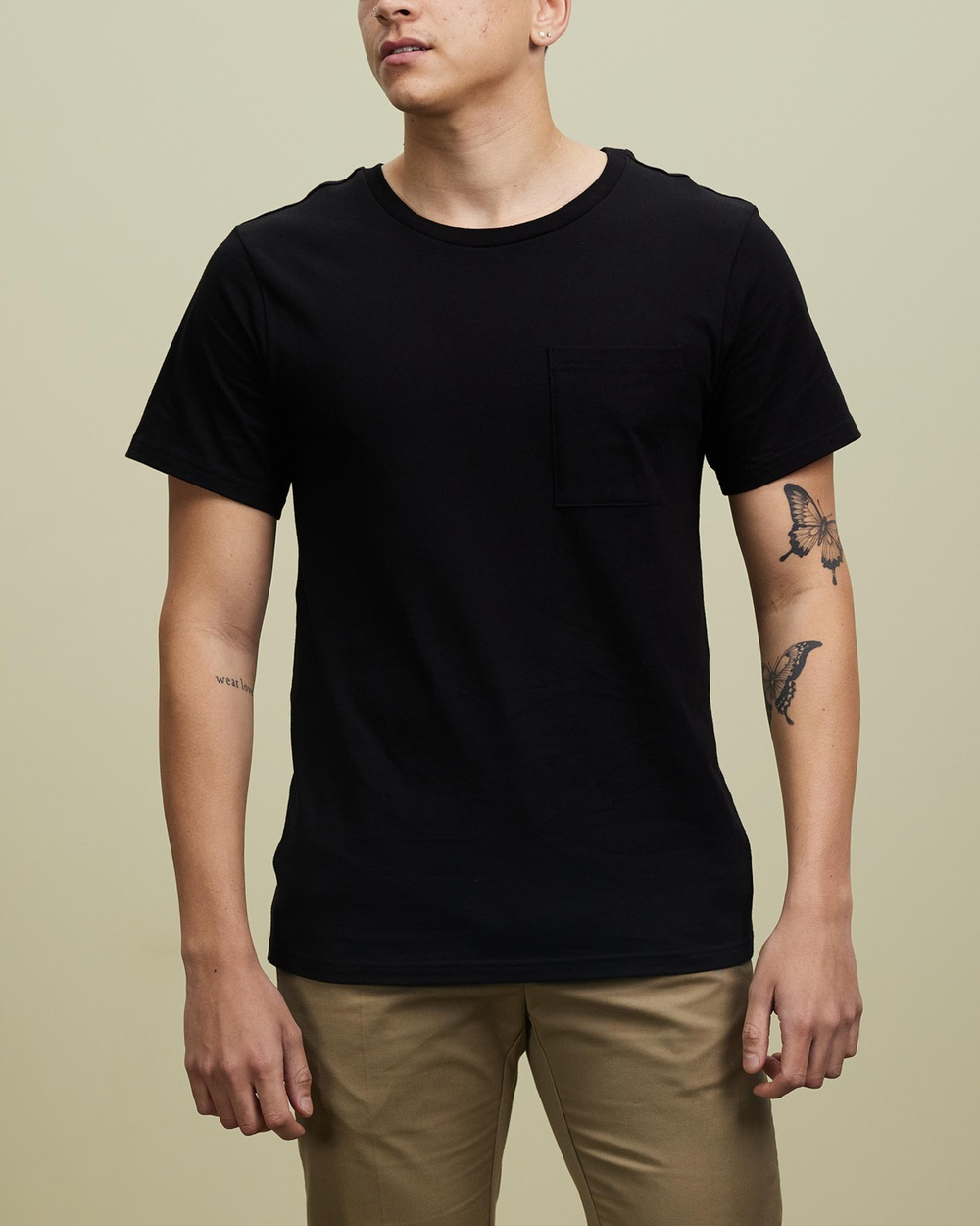 AERE Relaxed Pocket Tee T-Shirts & Singlets Black