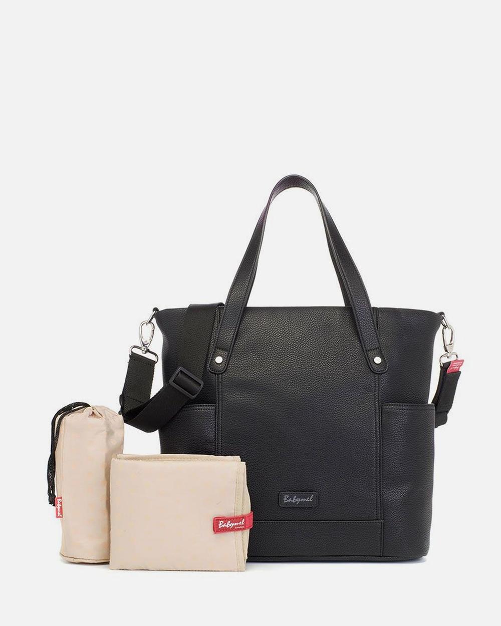 Babymel Rosie Vegan Leather Bags Black