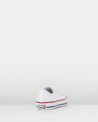 Australia Converse Chuck Taylor All Star Ox Leather Youth Flats White/Black