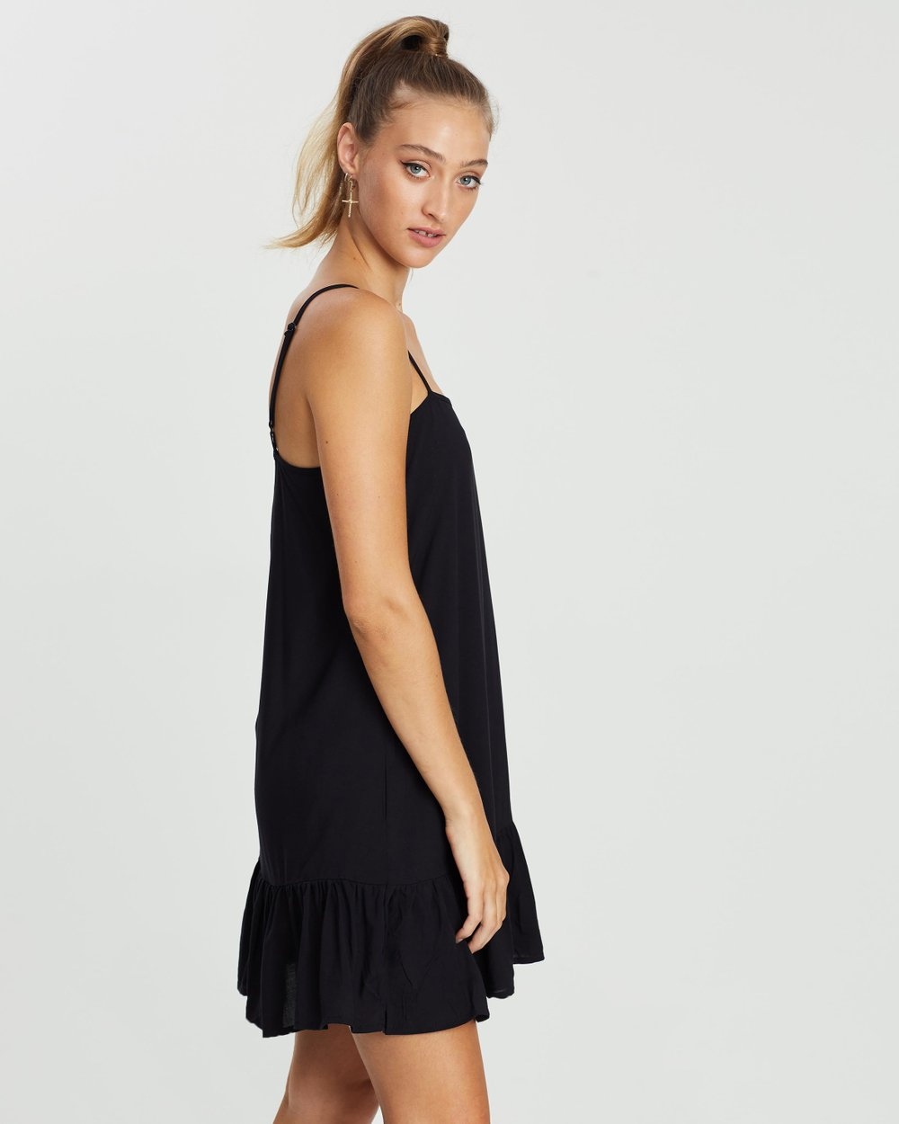 919726aefff3 Woven Leni Frill Hem Mini Dress by Cotton On Online | THE ICONIC | Australia