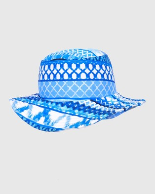 Aqua Blu Kids Riviera Lycra Bucket Hat Babies Hats Riviera