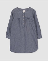 Milky - Stripe Denim Dress - Babies