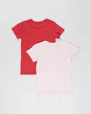 Cotton On Kids - Penelope Short Sleeve Tee 2 Pack   Kids Teens - T-Shirts & Singlets (Lucky Red Lucky & Pink Quartz Rainbow Kitty) Penelope Short Sleeve Tee 2-Pack - Kids-Teens