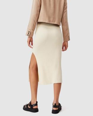 Cotton On Stella Knit Midi Skirt - Skirts (Coconut)