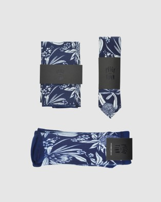 Peggy and Finn - Natives Tie Gift Box - Ties (Navy) Natives Tie Gift Box