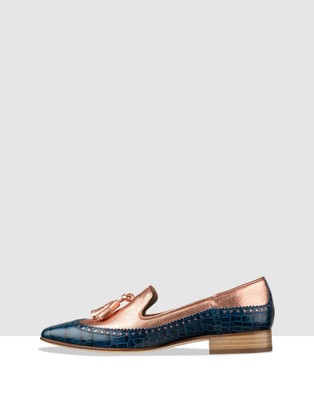 Habbot Selsey Loafers Flats Blue