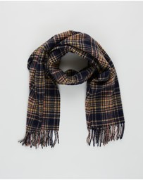 Scotch & Soda - Classic Woven Check Scarf in Wool-Blend Quality