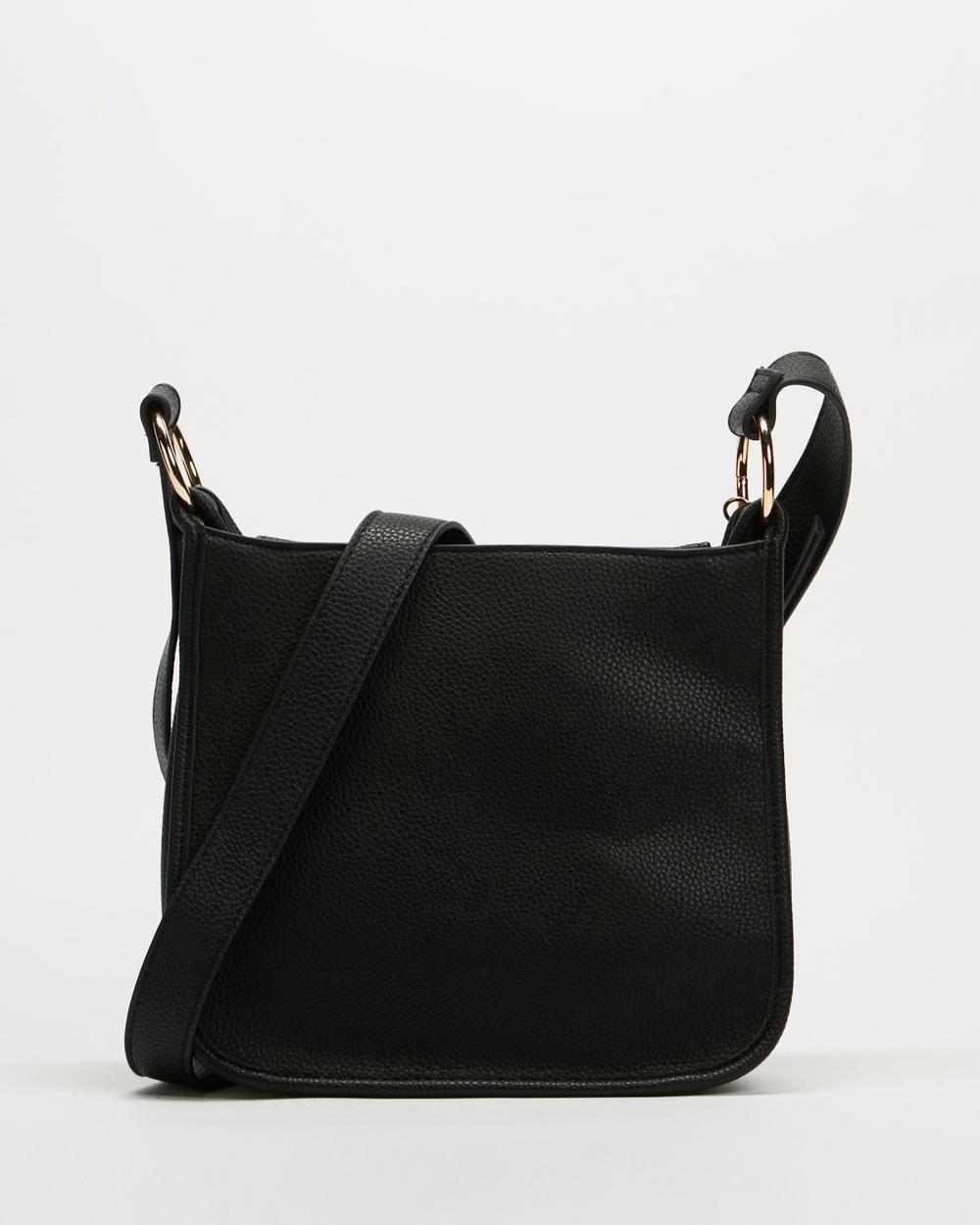Dorothy Perkins Zip Front Tassel Crossbody Bag Bags Black