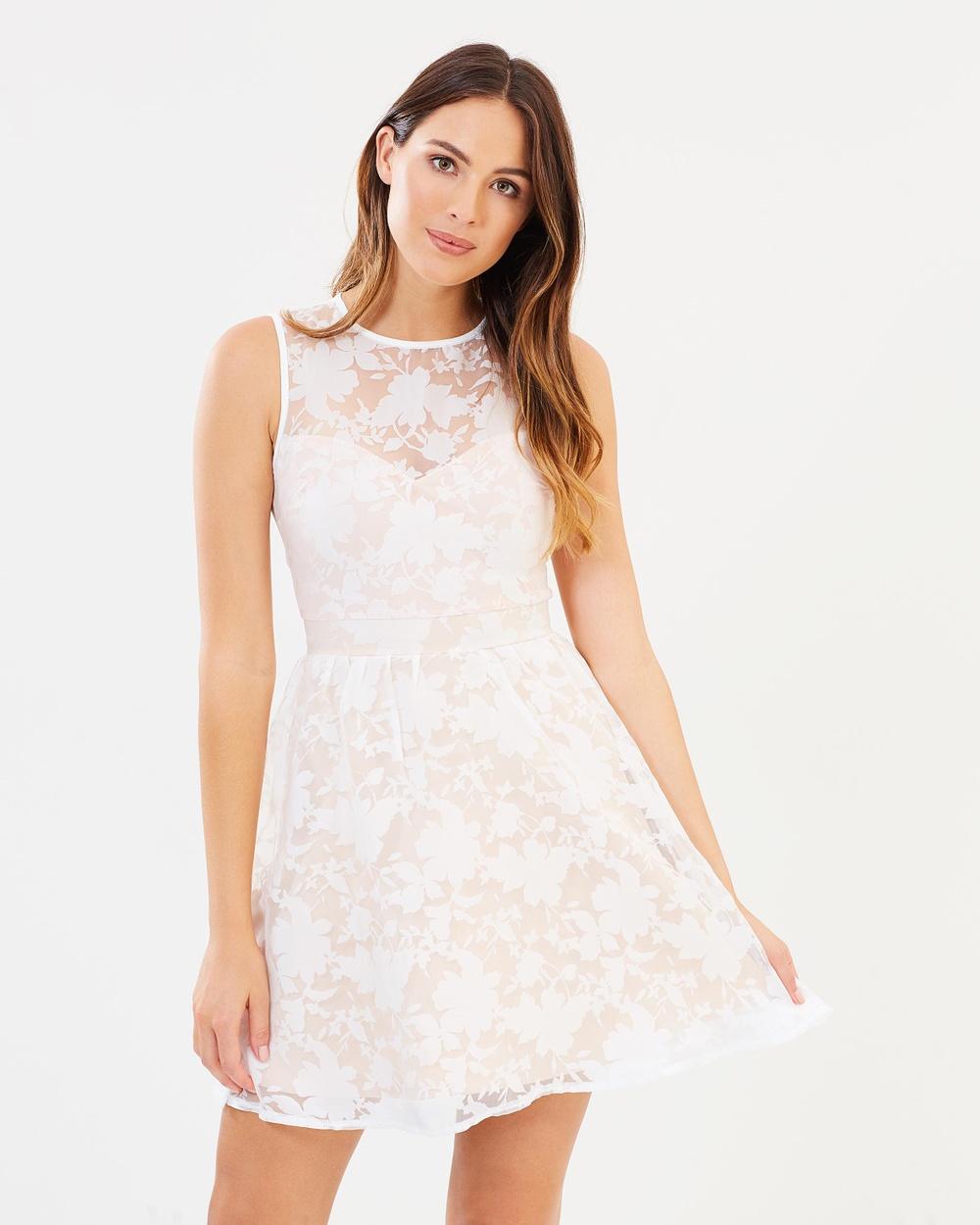Lipsy Burnout Skirt Dress Dresses Nude Burnout Skirt Dress