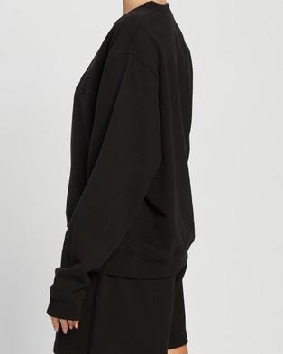 AERE Organic Cotton Aere Sweat Top - Sweats (Black)