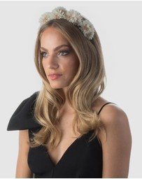 Olga Berg - Etta Beaded Pom Pom Crown