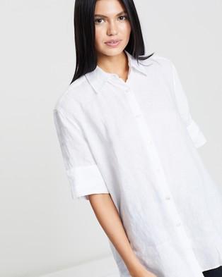 Assembly Label Short Sleeve Shirt - Tops (White)