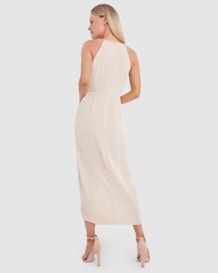 Forcast Odessa Halterneck Midi Dress - Bridesmaid Dresses (Blush)