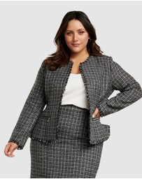 Forever New Curve - Amy Boucle Edge to Edge Curve Jacket