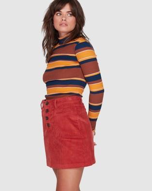 Element Ryder Cord Skirt - Skirts (RED OCHRE)