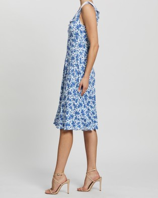 Review Paloma Floral Dress - Printed Dresses (White & Blue)