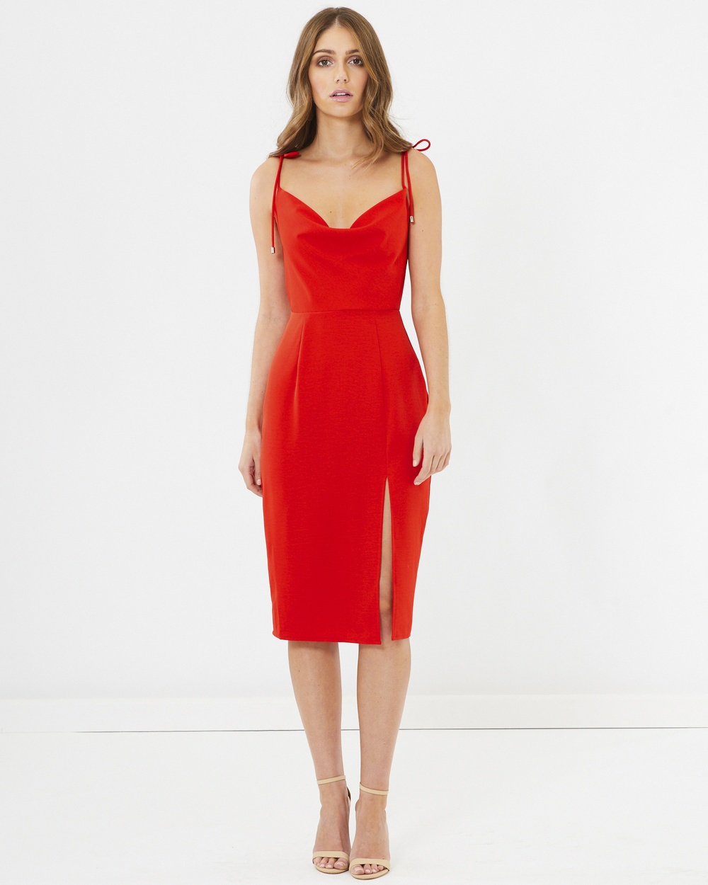 CHANCERY Sadie Cowl Neck Dress Bodycon Dresses Red Sadie Cowl Neck Dress