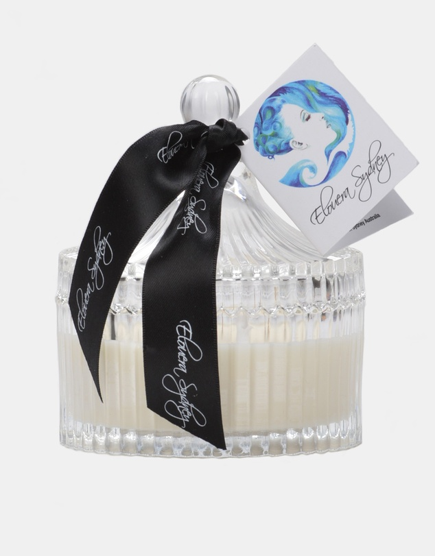 Life Lychee and Peony Clear Glass Carousel Candle