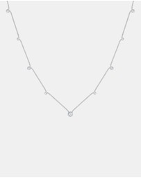 Elli Jewelry - Necklace Solitaire Basic Swarovski Crystals 925 Sterling Silver
