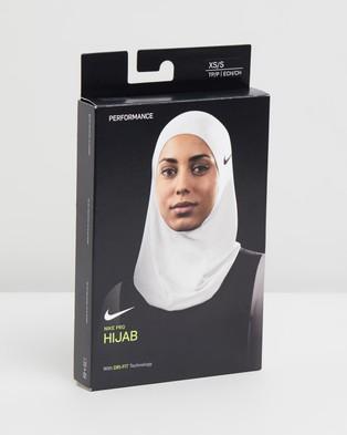 Nike Pro Hijab 2.0 - Headwear (White & Black)